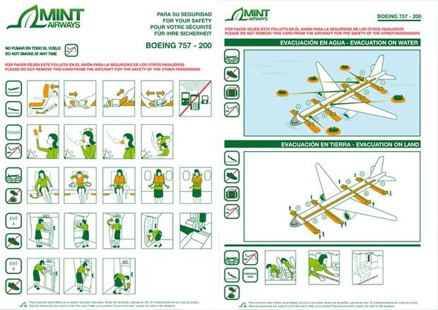 Safety Board Mint Airways