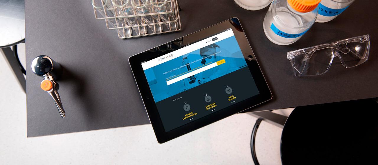 Pantallazo en iPad de atrialab